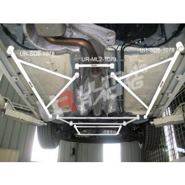 Ford Focus MK2 2.0 TDCI  2x 3-Point Floor Bars