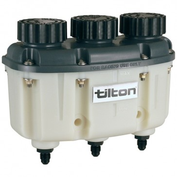 Tilton 3 Chamber Fluid Reservoir with JIC-4 Outlets