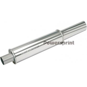 89mm/89mm Single Round Universal Muffler (With Decorative Tip)