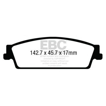 Yellowstuff Brake Pads (Rear, DP43022R)