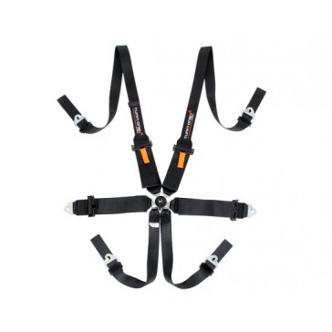 Star FIA harness, 6 pnt, Black