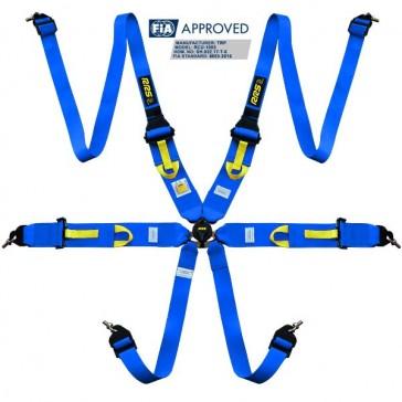 "Harnesses FIA 3"" 2"" R6 HANS® SUPERLIGHT 2.8kg blue harnesses 2018"