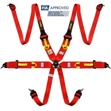 "Harnesses FIA 3"" 2"" R6 HANS® SUPERLIGHT 2.8kg red harnesses 2018"