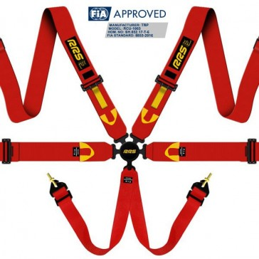 FIA R6 2018 2.9 kg red harnesses (6pts)