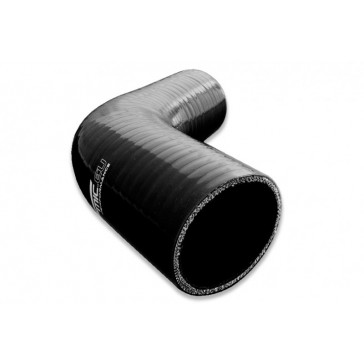 SILICONE ELBOW REDUCER 67' 80/60MM, Black