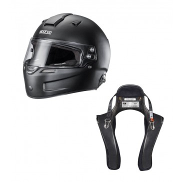 Closed Helmet and HANS Device Set