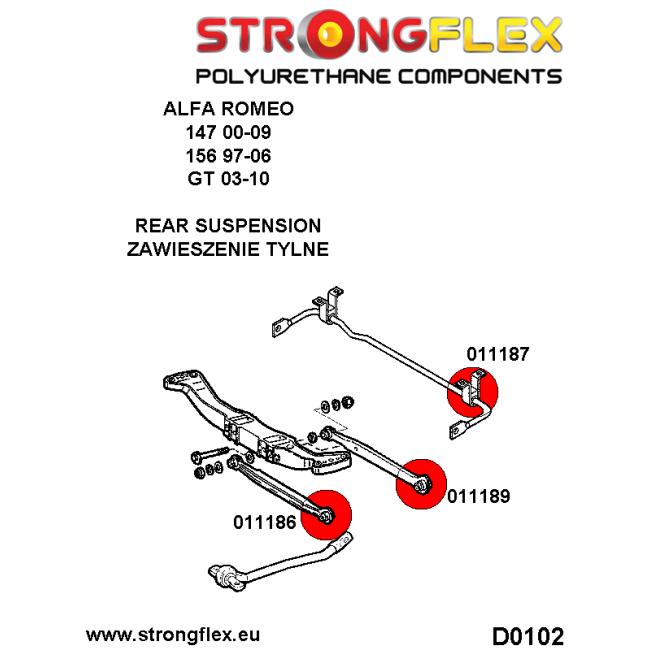 Schwinn Solution 650 Parts Catalog : Strongflex full suspension bush kit b