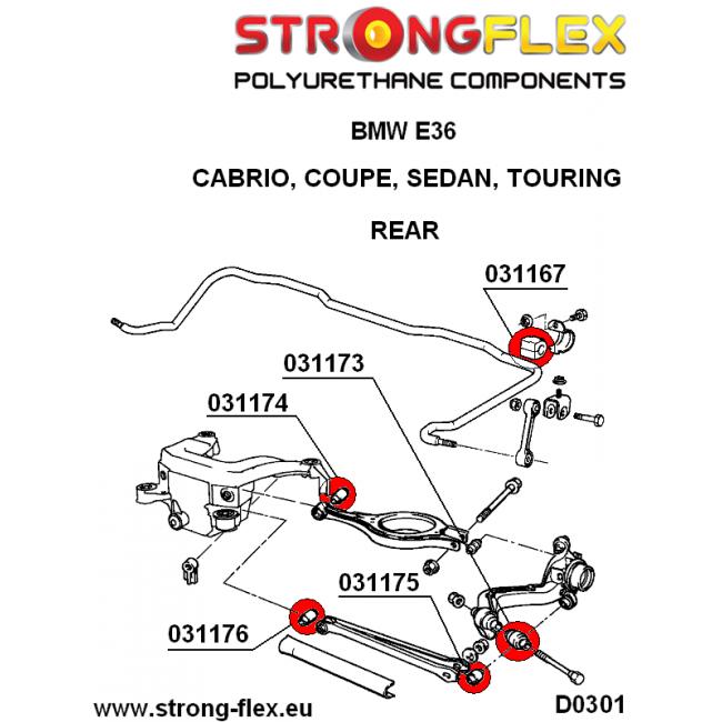Schwinn Solution 650 Parts Catalog : Strongflex rear control arm lower outer sport a