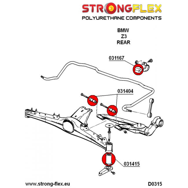 Strongflex Rear Anti Roll Bar Bush 12 25mm 031167b