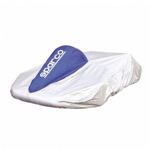Sparco Kart Cover (Silver/Blue)