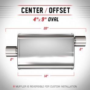 MagnaFlow 4in.x9in. XL Universal Stainless Steel Muffler