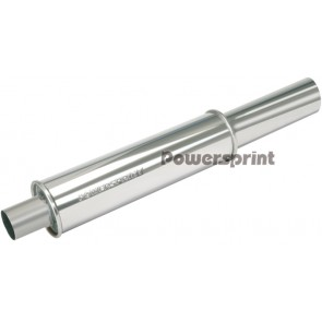Powersprint 76mm/76mm Single Round Universal Muffler (With Decorative Tip)