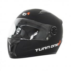 Turn One Karting full face helmet, black