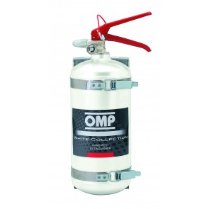 OMP Hand Held Aluminium Fire Extinguisher 2.4 Liters 4kg (Silver)