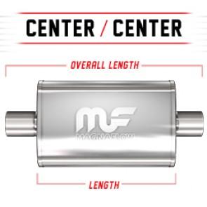 "MagnaFlow 4""x9"" Universal Stainless Steel Muffler"