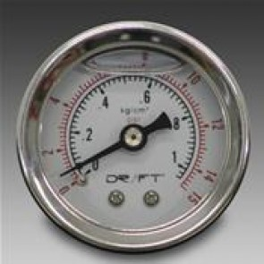 Drift Liquid Filled Fuel Pressure Gauge 15 psi