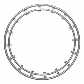 Rim Ringz Car Wheel Rim Protector (Silver)