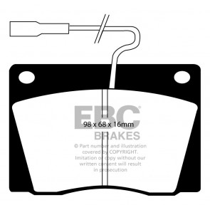 EBC Brakes Ultimax Brake Pads (Front, DP1028)