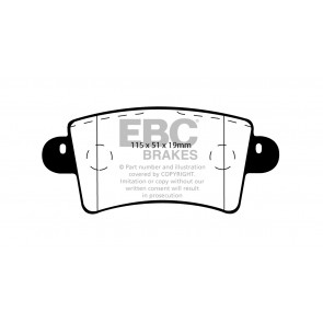EBC Brakes Ultimax Brake Pads (Rear, DP1385)