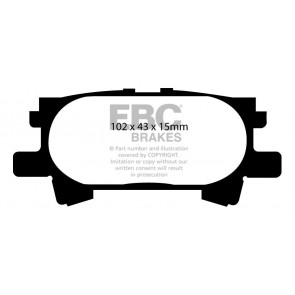 EBC Brakes Ultimax Brake Pads (Rear, DP1682)