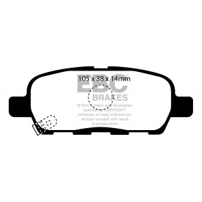 EBC Brakes Ultimax Brake Pads (Rear, DP1955)