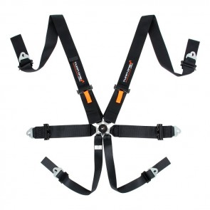 Turn One FIA Speed Harness, 6pnt, Black (Without HANS)