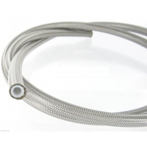 HEL Performance Stainless Steel Braided Hose With PTFE Inner -6 AN (8mm) ID Clear PVC Coating