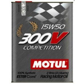 Motul 300V Competition 15W50 Motorsporta Eļļa 2L ESTER Core®