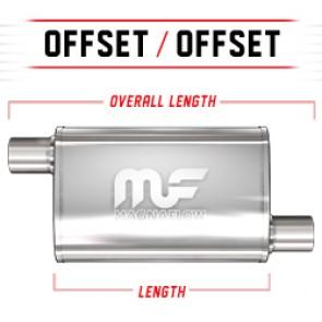 "MagnaFlow 3.5""x7"" Universal Stainless Steel Muffler"