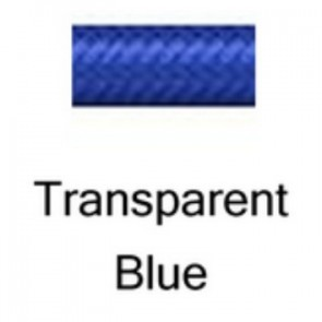 HEL Performance -3 Stainless Steel Braided PTFE Hose, Transparent Blue