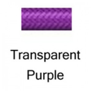 HEL Performance -3 Stainless Steel Braided PTFE Hose, Transparent Purple