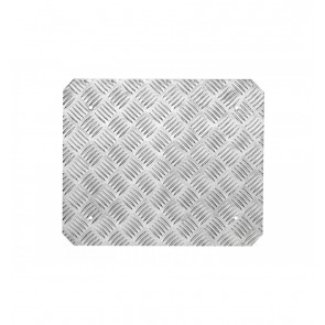 OMP Universal Flat Footrest - Knurled Aluminium