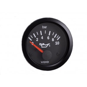 VDO Oil Pressure Gauge, 0-10 Bar, 52mm