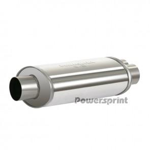 Powersprint HF-35 63.5mm/2x50mm Single/Dual Oval Universal Muffler