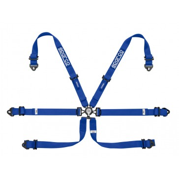 Racing harnesses, ENDURANCE 6 POINT FHR, Blue