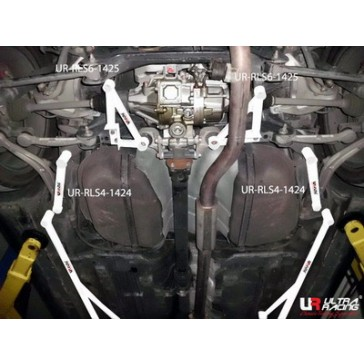 Mitsubishi EVO X  2x 2-Point Rear Side Bars 1424P