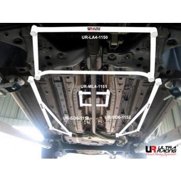 Alfa Romeo Mito 08+  2x 3-Point Floor Bars