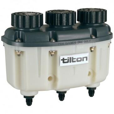 Tilton 3 Chamber Fluid Reservoir with JIC-4 Outlets