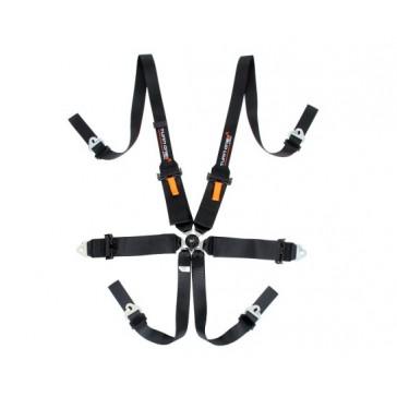 Star FIA harness, 6 pnt, Black