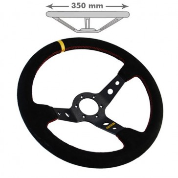 Steering Wheel, 350x90mm, Suede (Rally)