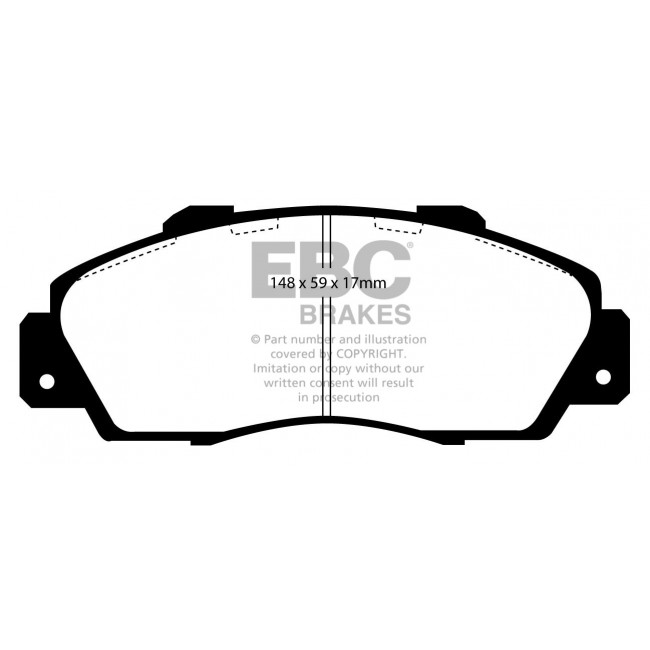 DP872 EBC Ultimax Front Brake Pads fit HONDA ROVER