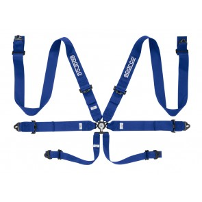 Sparco Racing harnesses, 6 POINT CLUB RACER HARNESS STEEL