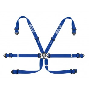 Sparco Racing harnesses, ENDURANCE 6 POINT FHR, Blue