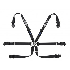 Sparco Racing harnesses, ENDURANCE 6 POINT FHR, Black