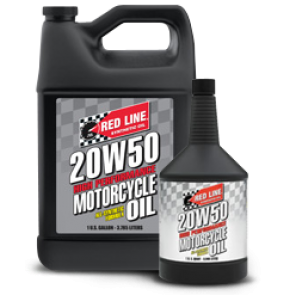 Red Line 20w50 Motorcycle Oil, Quart