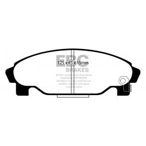 EBC Brakes Ultimax Brake Pads (Front, DP1015)