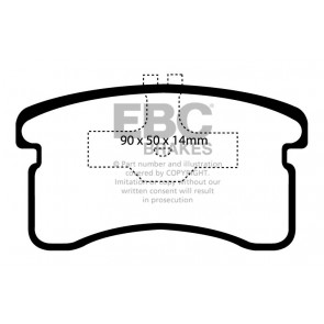 EBC Brakes Ultimax Brake Pads (Front, DP1016)