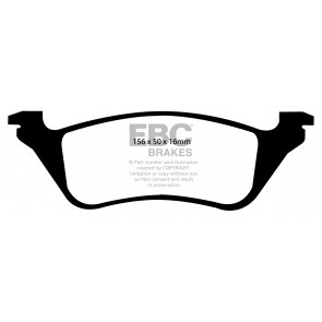 EBC Brakes Ultimax Brake Pads (Rear, DP1629)