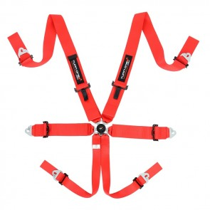 Turn One FIA Speed Harness, 6pnt, Red (Without HANS)