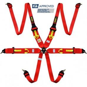 "RRS Harnesses FIA 3"" 2"" R6 HANS® SUPERLIGHT 2.8kg red harnesses 2018"